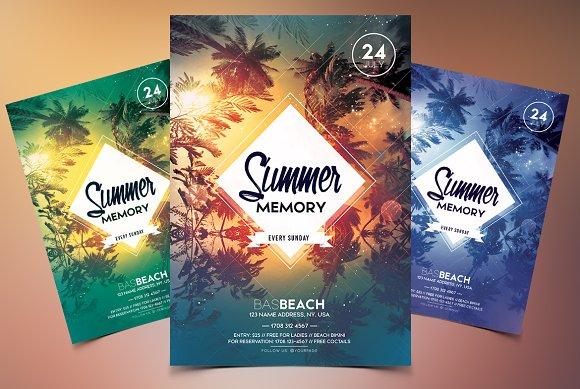 summer memory psd flyer template flyer templates creative market