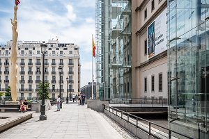 Outdoor view of Reina Sofia Museum