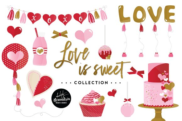 Love Is Sweet Graphics Patterns