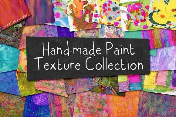 Hand-made Paint Texture Collection