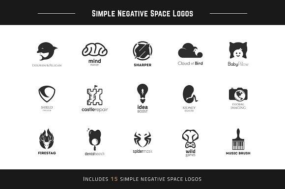 Simple Negative Space Logos