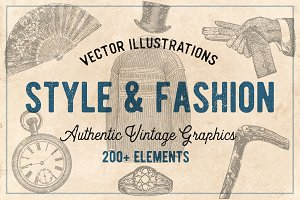 200 Vintage Fashion Illustrations