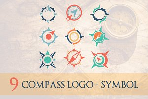 9 Compass Logo Symbol - 50% OFF