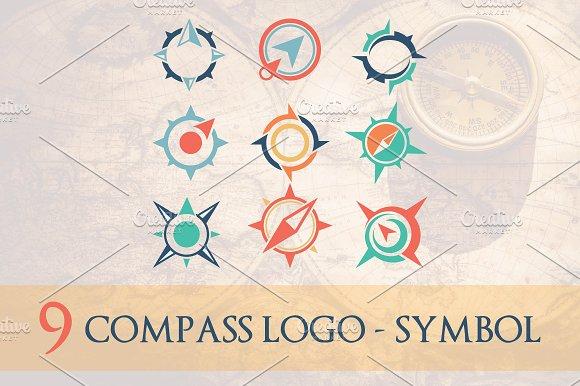 9 Compass Logo Symbol 50% OFF