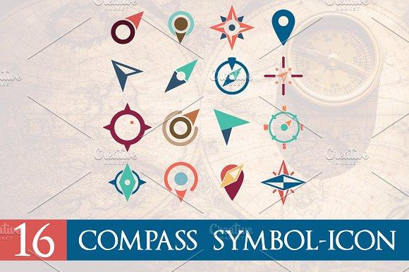 16 Compass Navigation Symbol Icon
