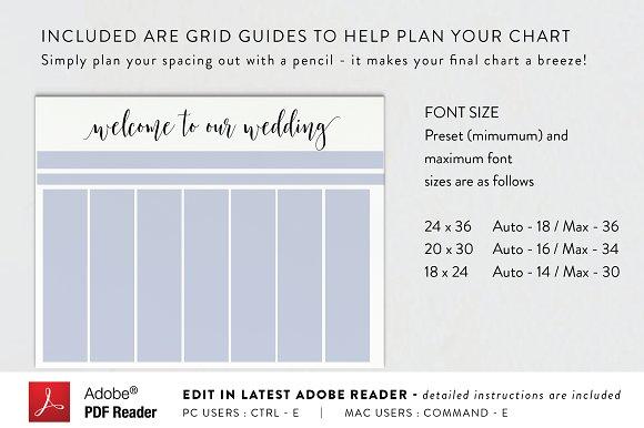 Seating Chart - Editable PDF