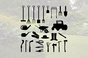 Gardening Equipment Tools Silhouette