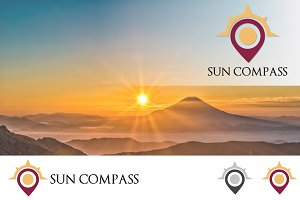 Sunrise Compass Map Location Logo