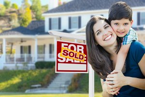 Mother & Son, House Sold Sign