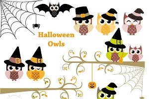 20% OFF!! Halloween Owls