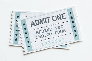 Closeup of ticket