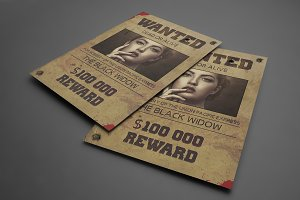 Old west style flyer template