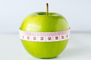 Closeup of healthy diet