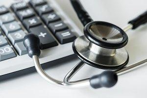 Closeup of stethoscope