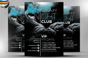 Galaxy Club 2017 Flyer Template