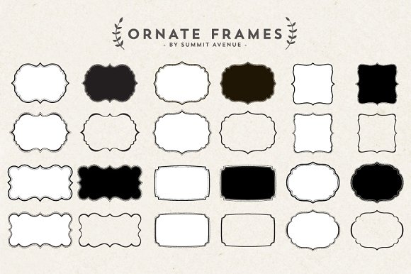 ornate decorative frames objects - Decorative Frames