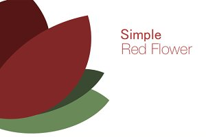 Simple Red Flower Vector