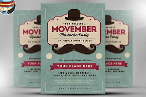 Movember Party Flyer Template v2