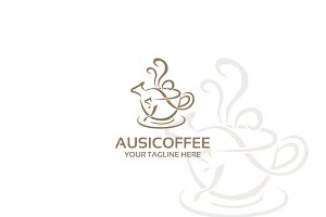 ausiecoffee – Logo Template