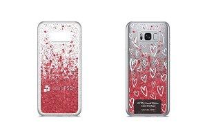 Galaxy S8 Plus UV TPU Liquid Glitter