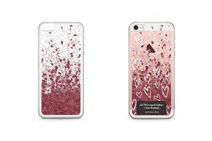 iPhone 5-5S-SE UV TPU Liquid Glitter
