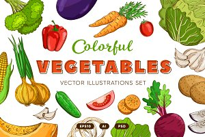 Vegetables in the Vintage Style