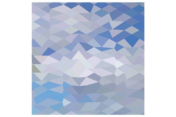 Grey Ocean Wave Abstract Low Polygon