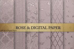 Rose & Digital Paper
