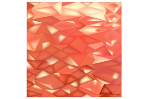 Orange Crystals Abstract Low Polygon