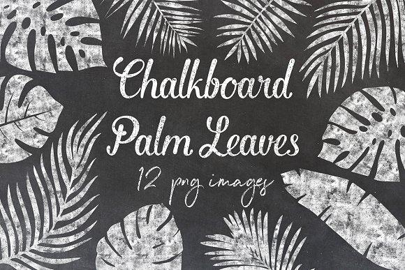 Chalkboard Palm Leaves