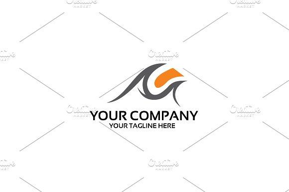 M Company Logo Template