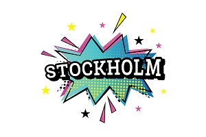 Stockholm Comic Text in Pop Art