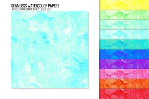 Seamless Watercolor Background Paper