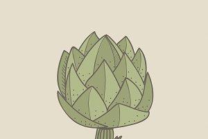 Illustration of an artichoke