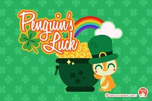 Digital Clipart Penguin's Luck