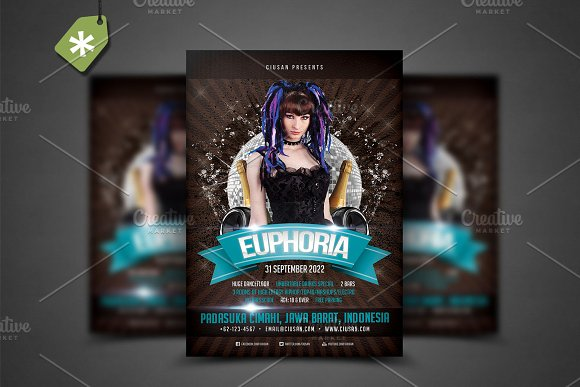 Euphoria Flyer Template