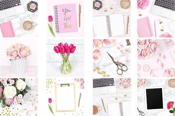 Feminine Desk Stock Photo Bundle