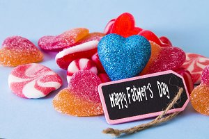happy father´s day with candies