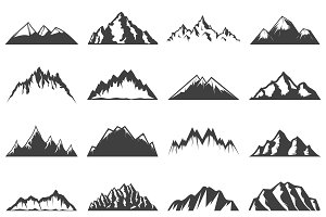 Vintage Mountains Icons Collection