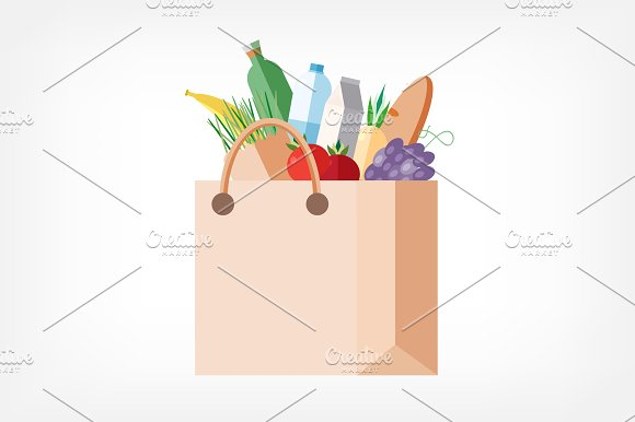 Paper bag with purchases