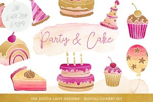 Party & Cake Clipart Set