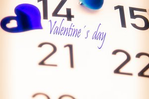 reminder in the calendar of February