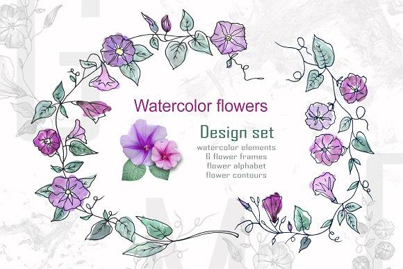 Spring Floral Alphabet Graphic Set