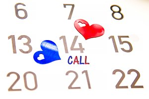 February 14 valentines day, call
