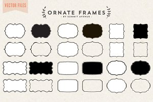 Vector - Ornate Decorative frames