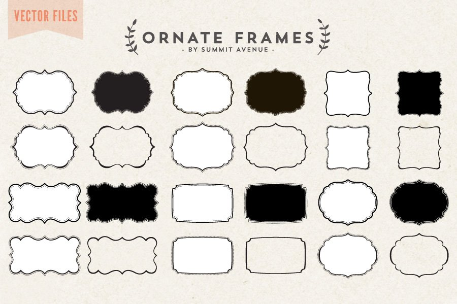 Vector - Ornate Decorative frames ~ Objects ~ Creative Market