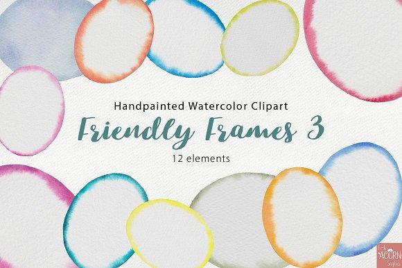 Watercolor Friendly Frames 3
