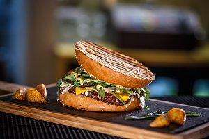 Delicious fresh burger