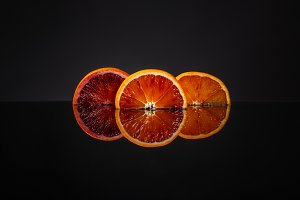 Juicy slice of Sicilian orange