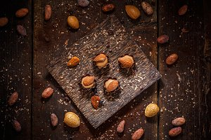 Fine chocolate praline